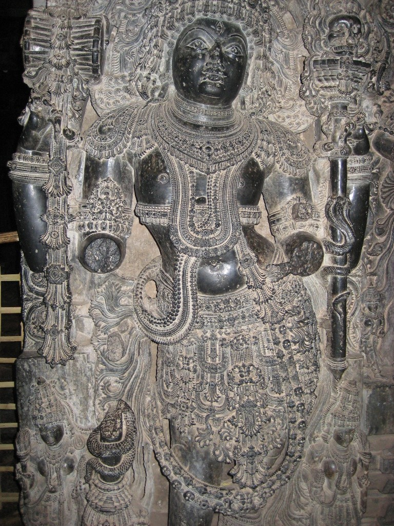 Sculpture at halebidu