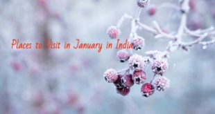 best place to visit in january in india